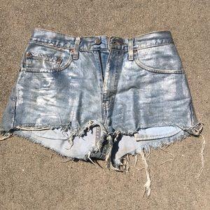 Levi's Coated Jean Shorts